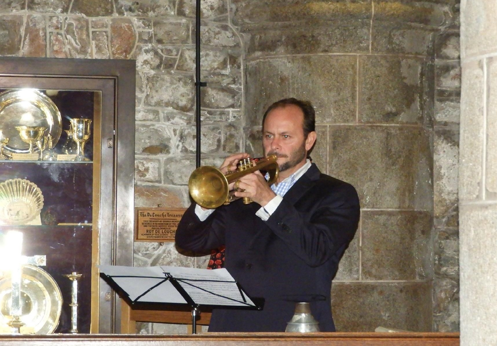 Solo Trumpet In Church